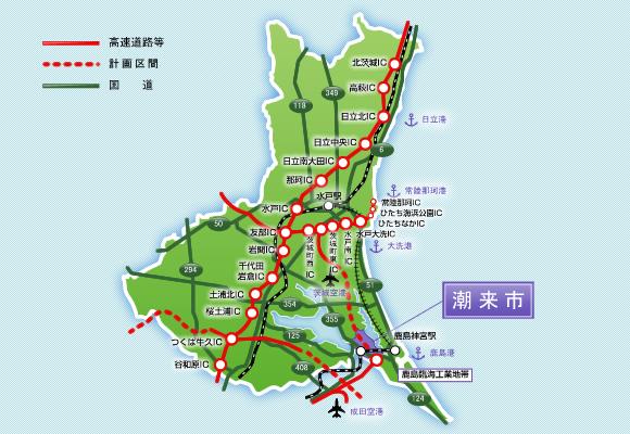 県内アクセス図