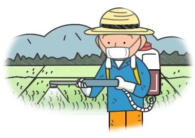 農薬散布イラスト