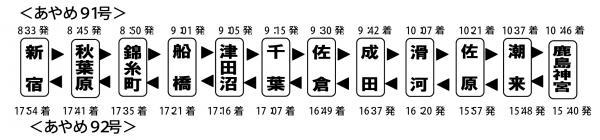 H24特急あやめ号時刻表
