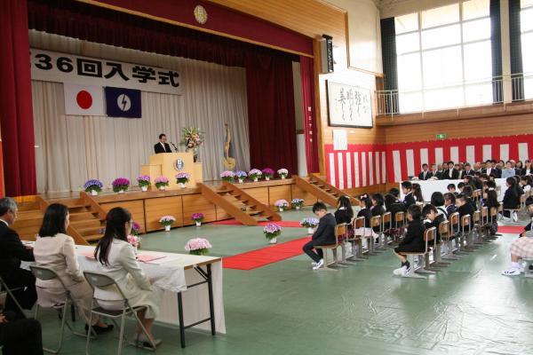 日の出小 入学式①