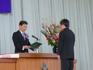 牛堀中学校 卒業証書授与式1