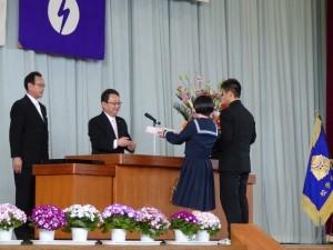牛堀中学校 卒業証書授与式2