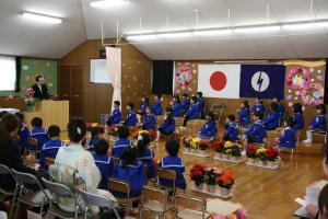うしぼり幼稚園 卒園式1