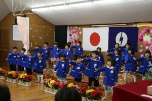 うしぼり幼稚園 卒園式3
