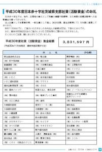 web用広報いたこVol.214号 10~11ページ平成30年度日本赤十字社茨城県支部社資(活動資金)のお礼