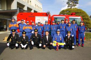 消防車両 引渡し式2